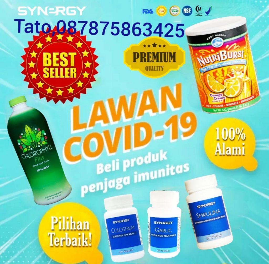 Lawan Covid19 dengan produk unggulan dari  Synergy tato 087875863425