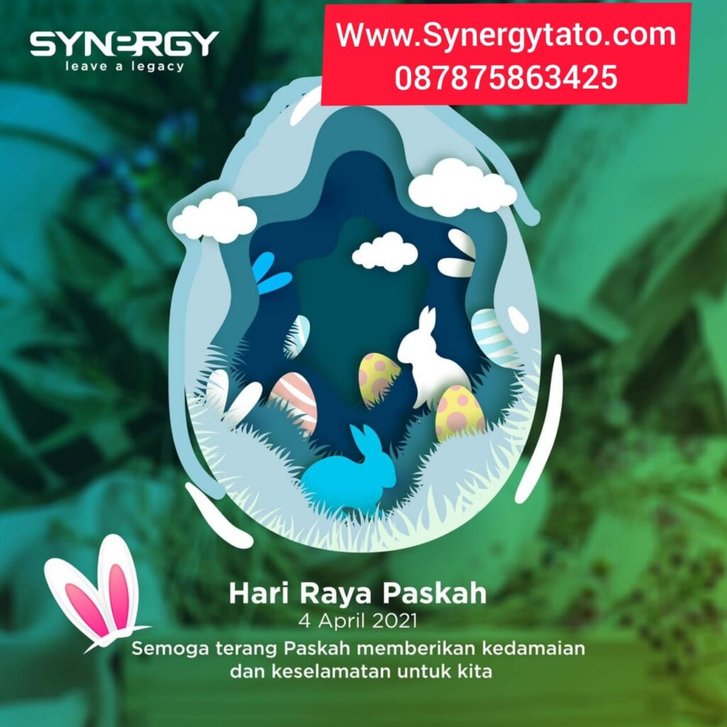 Paskah 2021 Synergytato dot com Mari Hidup Sehat 087875863425